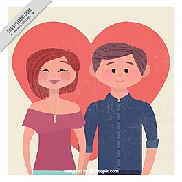 復古風格的情侶背景