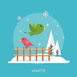 冬天的背景设计