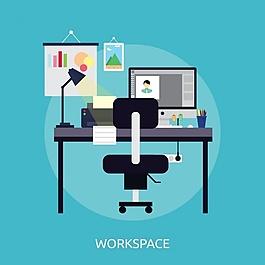 工作區背景設計