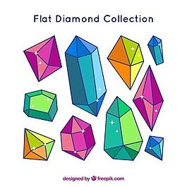 平面设计中不规则宝石的收集