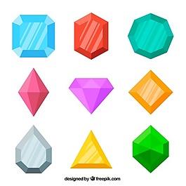 平面设计中各色宝石的搭配