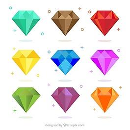 平面設計中的彩色鉆石包裝