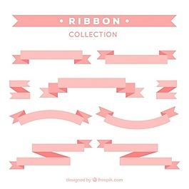 平面設計中的裝飾粉紅絲帶