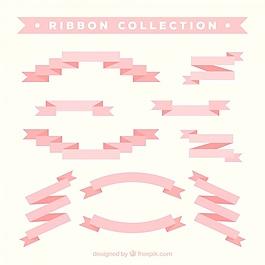 平面設計中的粉紅色絲帶