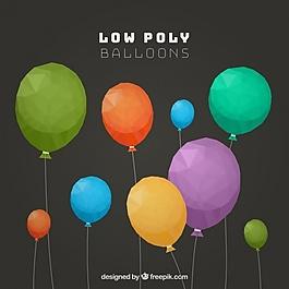 彩色多边形气球组
