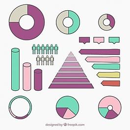 收集的手繪圖表圖表