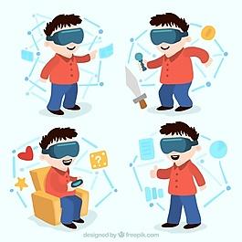 虚拟实境眼镜快乐儿童套装