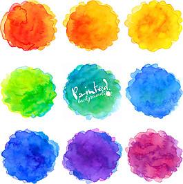 彩色暈染水墨圖片