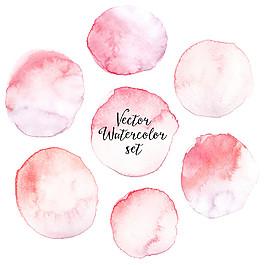 粉色暈染水墨圖片