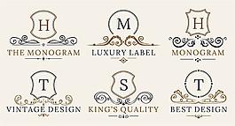 花紋字母合集標志圖片