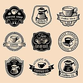 手绘咖啡标志图片