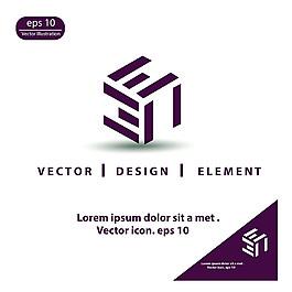紫色幾何標志圖片
