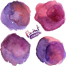 紫色暈染水墨圖片
