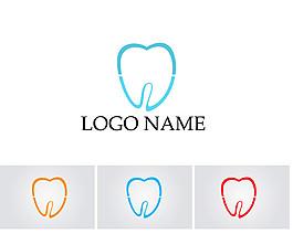 線條牙齒標志圖片