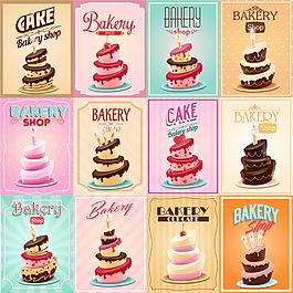 多層美味的蛋糕