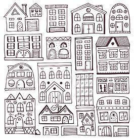 手繪建筑背景