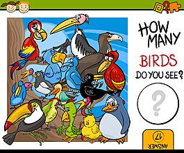 可愛卡通鳥類