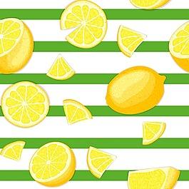 清新檸檬背景