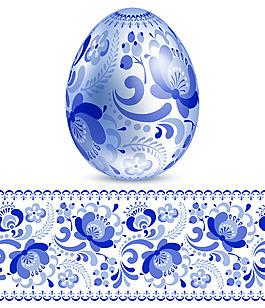 传统青花瓷花纹