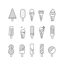 手绘冰糕标志