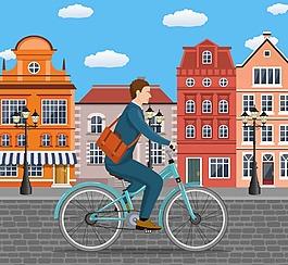 騎自行車的人物
