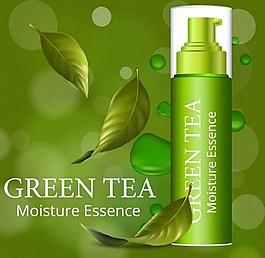 綠色化妝品背景圖