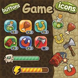 游戲農場工具矢量圖