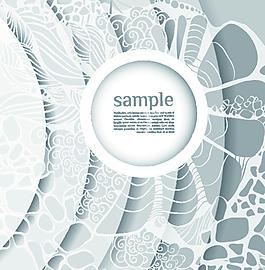多重白色多邊形花紋矢量背景文件素材