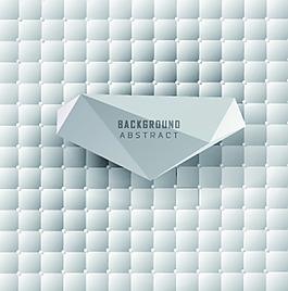 網格白色多邊形花紋矢量背景文件素材