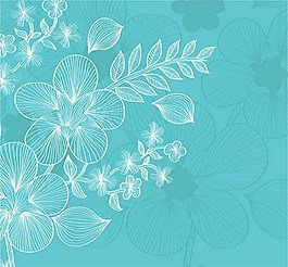 手绘漂亮鲜花无缝背景图