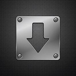 黑色金屬箭頭背景圖