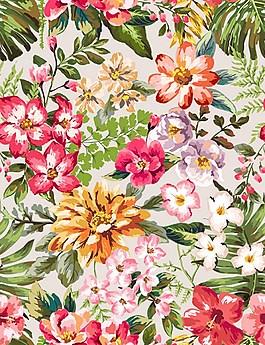 彩色漂亮鲜花无缝背景图