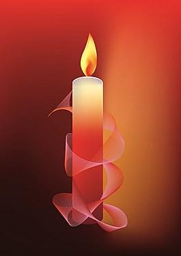 红色创意抽象蜡烛背景图