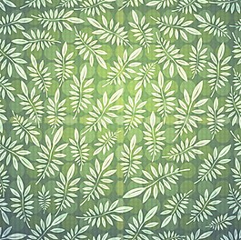 小清新绿色叶子背景图