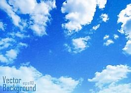 经典蓝色天空背景图
