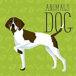 可爱卡通狗狗宠物展示矢量素材
