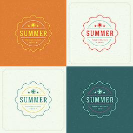 简约太阳夏天度假旅游矢量图标素材