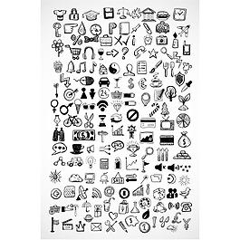 矢量手繪訂制元素圖標素材
