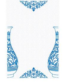 矢量古典青花瓷花纹背景