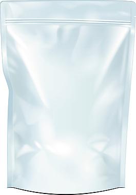 白色包裝袋樣機