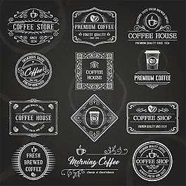 怀旧咖啡标签图片