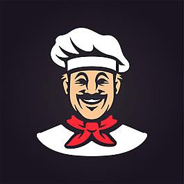 卡通厨师头像漫画图片