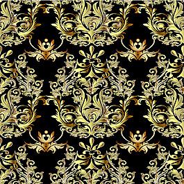 金色欧式花纹背景图片