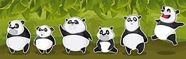 卡通熊貓漫畫圖片