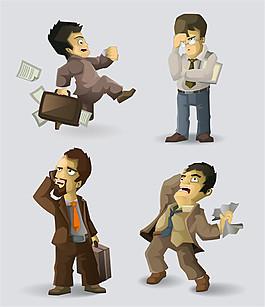卡通職業男性漫畫圖片