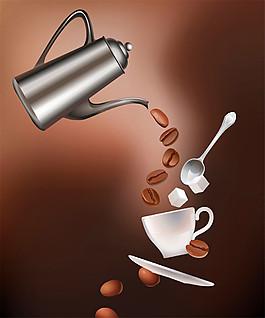 卡通咖啡壶图片
