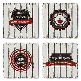 木纹咖啡标签图片