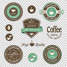 丝带咖啡标签图片