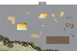 地面平面图素材--岩石沙土泥土 (1)