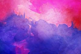 藍色水墨特效炫彩背景圖